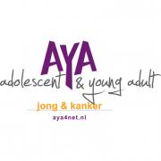 Logo AYA jong & kanker incl websitevermelding